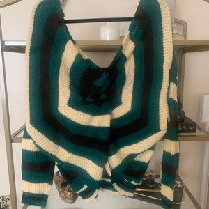 Vici striped sweater with twist back